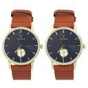トリワ 腕時計 ペアウォッチ ファルケン ネイビー文字盤 ブラウンレザー FAST104-CL010...