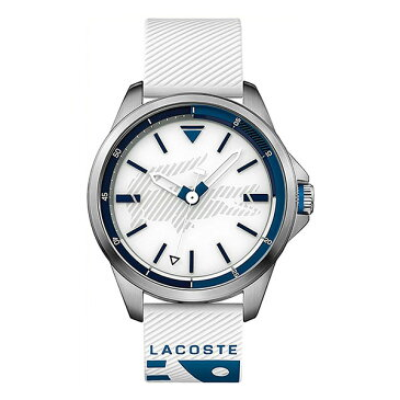 LACOSTE ラコステ メンズ 腕時計 Capbreton シルバーケース ホワイト ラバー 2010942 ビジネス 男性 ブランド プレゼント 誕生日 お祝い クリスマスプレゼント ギフト お洒落