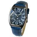 【無料特典付き!】ミッシェルジョルダン スポーツ 時計 メンズ 腕時計 シルバーケース 青 ネイビー ブルー レザー ダイヤモンド トノー型 革 SG-1000-8 ビジネス 男性 ブランド 時計 誕生日 お祝い プレゼント ギフト