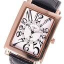 【無料特典付き!】ミッシェルジョルダン スポーツ 時計 メンズ 腕時計 ローズゴールドケース 黒 ブラック レザー ダイヤモンド 長方形型 革 SG-3000-7PG ビジネス 男性 ブランド 時計 誕生日 お祝い プレゼント ギフト