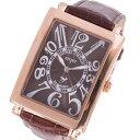 【無料特典付き!】ミッシェルジョルダン スポーツ 時計 メンズ 腕時計 ローズゴールドケース 茶 ブラウン レザー ダイヤモンド 長方形型 革 SG-3000-10PG ビジネス 男性 ブランド 時計 誕生日 お祝い プレゼント ギフト