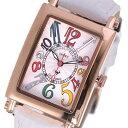 【無料特典付き!】ミッシェルジョルダン スポーツ 時計 レディース 腕時計 ローズゴールドケース 白 ホワイト レザー ダイヤモンド カラフル 長方形型 革 SL-3000-6PG ビジネス 女性 ブランド 時計 誕生日 お祝い プレゼント ギフト