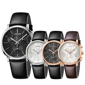 【選べる4モデル】CALVIN KLEIN カルバンクライン スイス製 時計 メンズ 腕時計 Posh ポッシュ クロノグラフ レトロモダン レザー K8Q37