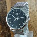 カルバンクライン 時計 メンズ 腕時計 サラウンド スリム ブラック文字盤 シルバー メッシュブレス K3W21121 ビジネス 男性 ブランド 時計 誕生日 お祝い クリスマスプレゼント ギフト お洒落