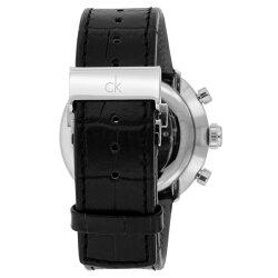カルバンクライン時計メンズ腕時計SubstantialサブスタンシャルクロノグラフシルバーブラックレザーK2N281C6