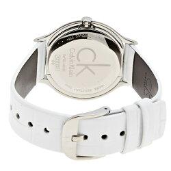 カルバンクライン時計レディース腕時計SKIRTスカートスイス製クオーツシルバー文字盤ホワイトレザーK2U231K6