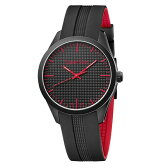 カルバンクライン 時計 メンズ レディース ユニセックス 腕時計 color カラー ブラック レッド ラバー K5E51TB1 ビジネス 男女 プレゼント ブランド 時計 誕生日 新生活 卒業 お祝い ギフト セレクト商品【コンビニ受取可】
