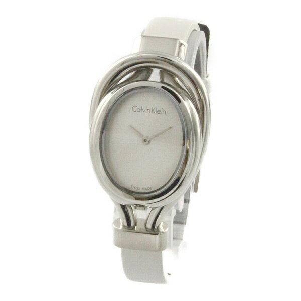 カルバンクライン 時計 レディース 腕時計 BELT ベルト ホワイト レザー K5H231K6 ビジネス 女性 ブランド 時計 誕生日 お祝い プレゼント ギフト