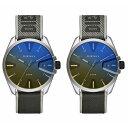 ディーゼル 腕時計 ペアウォッチ お揃い 同サイズ MS9 エムエスナイン 偏光ガラス グレー ネオンイエロー ナイロン レザー DZ1902DZ1902 ブランド カップル 男女 ペアセット 誕生日 お祝い プレゼント ギフト・・・