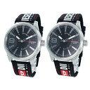 DIESEL ディーゼル 腕時計 ペアウォッチ 替えベルト付 メンズ レディース 同じ時計 おそろい 2本セット ペアグッツ ペア時計 DZ1906DZ1906 ブランド カップル 男女 ペアセット 2本セット 誕生日 お祝い プレゼント ギフト・・・