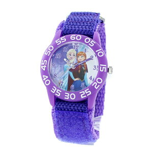 Disney Kids ディズニー キッズウォッチ 女の子 腕時計 アナと雪の女王 アナ雪 アナ エルサ 可愛い パープル ナイロン マジックテープ WDS000319 誕生日 お祝い 卒園 ギフト