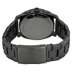フォッシル時計メンズ腕時計Machineクロノグラフブラック文字盤ステンレスFS4662
