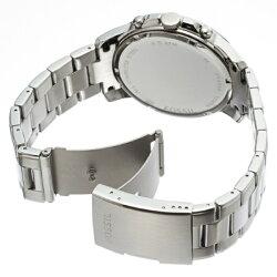 フォッシル時計メンズ腕時計Grantグラントクロノグラフブラック文字盤ステンレスFS4994