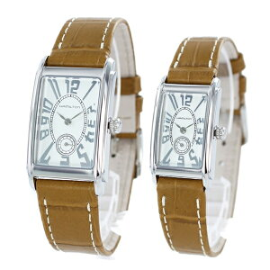 ペア腕時計 ボックス付き ハミルトン 時計 ペアウォッチ アードモア シルバー ブラウンレザー H11411553H11211553 ビジネス ペアセット カップル 男女 時計 誕生日 お祝い ギフト クリスマス プレゼント