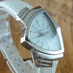 ハミルトン時計レディース腕時計ベンチュラホワイトレザーH24211852