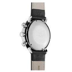 Junghansユンハンス時計メンズ腕時計マックスビルクロノスコープブラック文字盤ブラックレザー027/4601.00