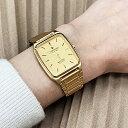 Junghans ユンハンス 腕時計 メンズ レディース ユニセックス MEISTER QUARTS マインスター クォーツ レトロ アンティーク調 ゴールド 金色 JE-102M