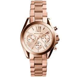 マイケルコース時計レディース腕時計ブラッドショーピンクゴールドクロノグラフスクリューバックMK5799
