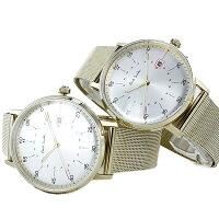 同じ ペア ポールスミス 腕時計 ペアウォッチ メンズ レディース 日付 カレンダー 時計 白 文字盤 ゴールド