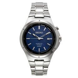 逆輸入セイコー時計メンズ腕時計コアキネティックブルー文字盤ステンレスSKA729