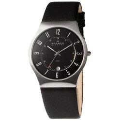 SKAGENスカーゲン時計メンズ腕時計ステンレススチールブラックレザー233XXLSLB