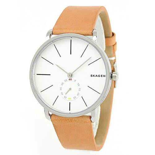 スカーゲン 時計 メンズ 腕時計 ハーゲン スモールセコンド ライトブラウン レザー SKW6215 ビジネ...