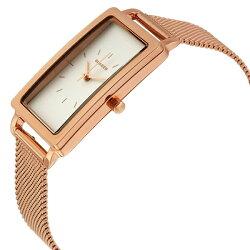 スカーゲン時計レディース腕時計ハーゲンレクタンギュラーローズゴールドステンレスメッシュベルトSKW2466