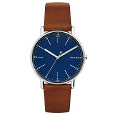 新作 スカーゲン 時計 メンズ 腕時計 シグネチャー ブラウン レザー SKW6355 ビジネス 男性 ブランド 時計 【仕事用】 誕生日 新生活 卒業 お祝い ギフト セレクト商品【コンビニ受取可】