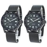スカーゲン 時計 ペアウォッチ 腕時計 ユニセックス 2本セット フィスク ブラック メッシュベルト 男女兼用 おそろい SKW2917SKW2917 ビジネス 男性 時計 誕生日 お祝い ギフト