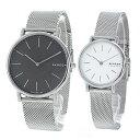 SKAGEN スカーゲン 腕時計 ペアウォッチ メンズ レディース 薄型 スリム シルバー メッシュベルト ペア 時計 SKW6483SKW2692