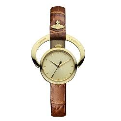 ヴィヴィアンウエストウッド時計レディース腕時計ゴールドブラウンレザーVV082GDTN