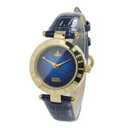 ヴィヴィアンウエストウッド時計レディース腕時計ブルーネイビーゴールドブラックレザーVV092NVNV