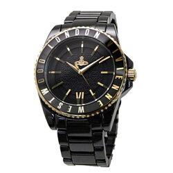 ヴィヴィアンウエストウッド時計メンズ/レディース腕時計ゴールドブラックステンレスVV048GDBK