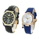 カップル 夫婦 ペア ウォッチ 腕時計 メンズ レディース ヴィヴィアン ウエストウッド ブラック ブルー レザー
