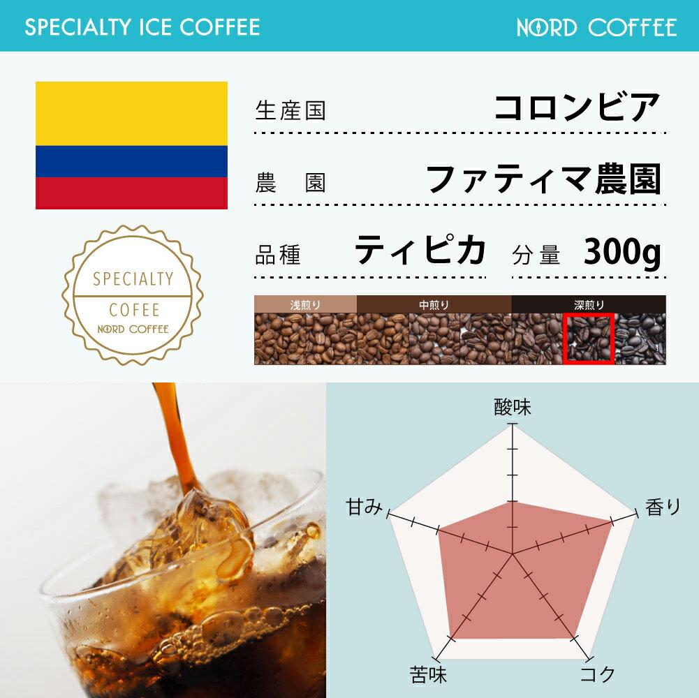 スペシャルティコーヒー[メール便]送料無料!アイスコーヒー コロンビアファティマ農園 ティピカ 300g[お歳暮][お年賀][内祝い][快気祝い][お中元][スペシャリティコーヒー][珈琲][珈琲豆][コーヒー豆][nord-p10][20P05Nov16]