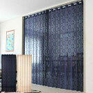 アコーディオンカーテン間仕切りパタパタつっぱりおしゃれロング新生活インテリアアールデコ250cm丈全2色