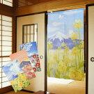 のれん季節の花と富士150cm丈全4種類