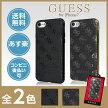 GUESS公式ライセンス品GUHCP74GGモノグラムアイフォン7ケースiPhone7ケースTPUブラックゴールド