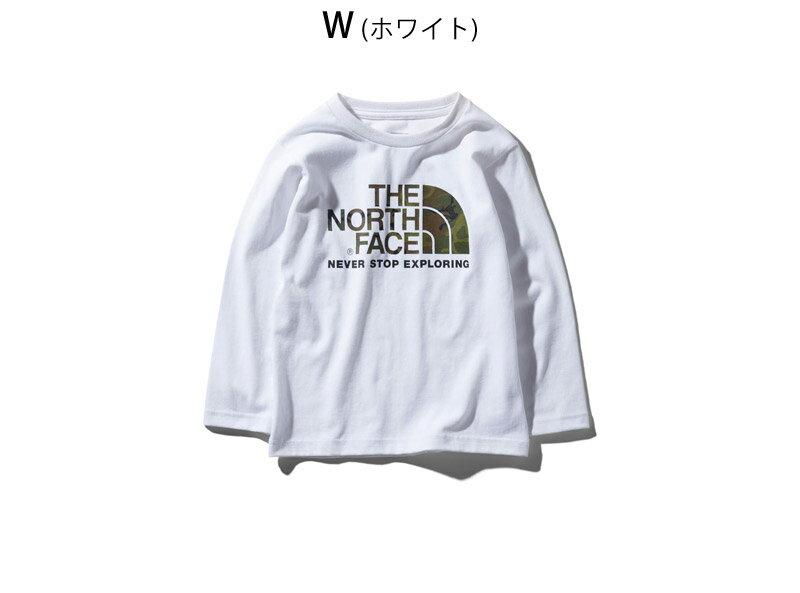 ノースフェイス THE NORTH FACE キッズ Tシャツ 長袖 ロンT アウトドアブランド L/S CAMO LOGO TEE NTJ81824