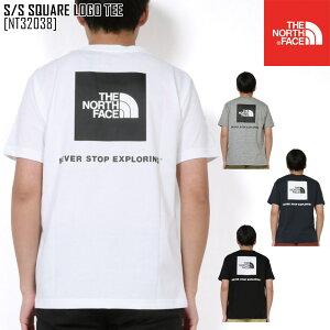 ノースフェイス NT32038 Tシャツ 半袖 メンズ アウトドアブランド S/S SQUARE LOGO TEE