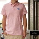 アバクロ Abercrombie&Fitch ポロシャツ Polo Shirts 着心地抜群♪シルエット抜群♪ PINK ピンク GOLF ゴルフウェアに♪ 50%OFF SALE!