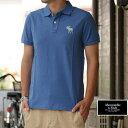 アバクロ Abercrombie&Fitch ポロシャツ Polo Shirts 着心地抜群♪シルエット抜群♪ BLUE ブルー GOLF ゴルフウェアに♪ 50%OFF SALE!
