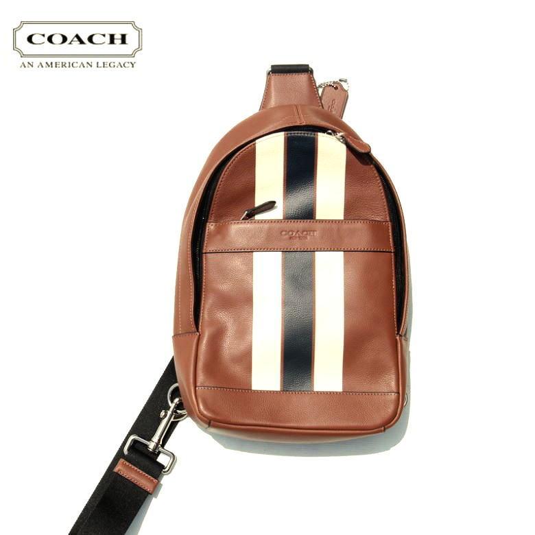 COACH コーチ F72226 CHARLES PCK VRSTY LT カーフ レザーCAMEL キャメル ワンショルダーバック:Select Shop Nose Low