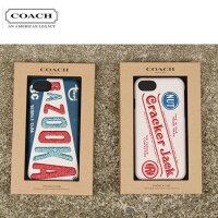 COACHコーチF27331/iPhone6S/7/8CASEBLUE(BAZOOKA)/WHITE(CrackerJack)アイフォンケースヴィンテージ復刻デザイン