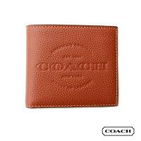 COACHコーチサドルレザー二つ折りウォレット財布カード収納本革プレゼントにもおすすめ♪コンパクトサイズコインケース無し