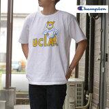 ChampionチャンピオンC5-R304T-1011US-T-SHIRTTシャツTEE染み込みプリントUCLAホワイトWHITE