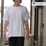ChampionチャンピオンC5-B303TシャツT-1011UST-SHIRTWITHPOCKETポケットTシャツアメリカ製WHITEホワイト