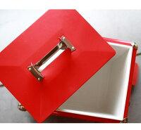 スチールクーラーボックスCHUMSチャムスCH62-1128レッドロゴ入りおしゃれなボックスCHUMSSTEELCOOLERBOXレッド