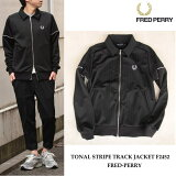 FREDPERRY(フレッドペリー)TONALSTRIPETRACKJACKETF24520707BLACKジャケット