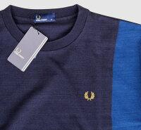 F1683PANELT-Shirtパネル切替TシャツINDIGOインディゴFREDPERRYフレッドペリー